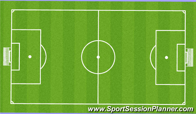 Football/Soccer Session Plan Drill (Colour): TRIANGULAR 11:11