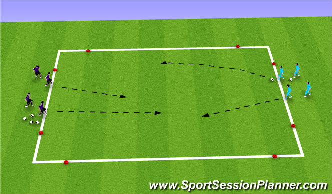Football/Soccer Session Plan Drill (Colour): 3 v 2 Small Sided Game