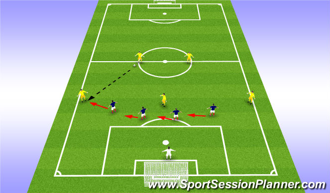 Football/Soccer Session Plan Drill (Colour): Slide
