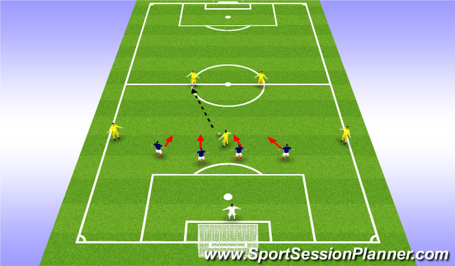 Football/Soccer Session Plan Drill (Colour): Up