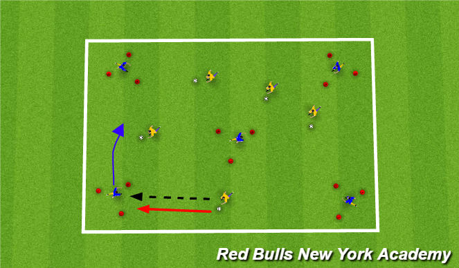 Football/Soccer Session Plan Drill (Colour): Exercise 2