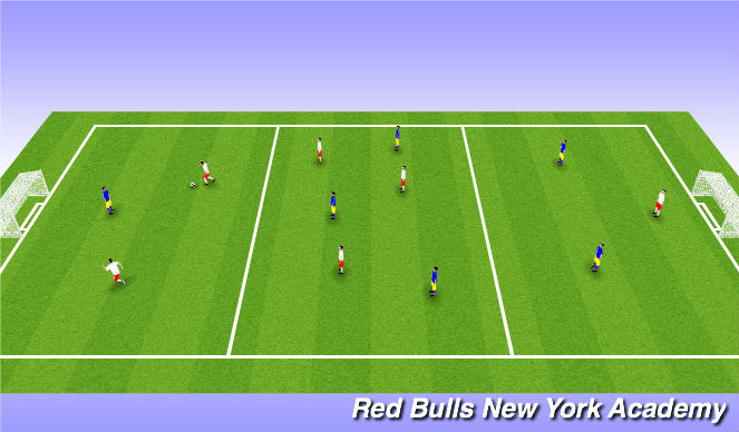 Football/Soccer Session Plan Drill (Colour): Game of Zones