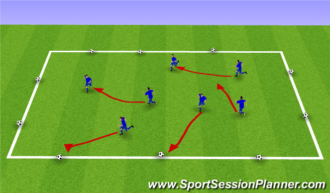 Football/Soccer Session Plan Drill (Colour): Activity 1 - Everyone's it
