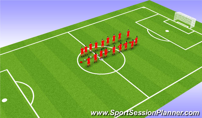 Football/Soccer Session Plan Drill (Colour): snatch