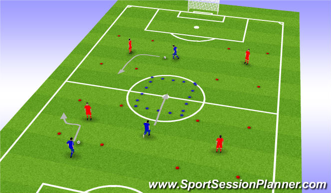 Football/Soccer Session Plan Drill (Colour): House breaker/Main session