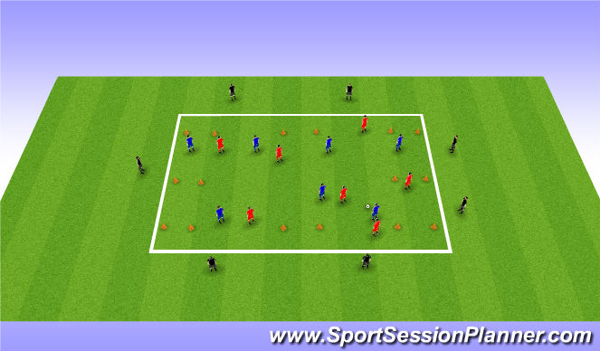 Football/Soccer Session Plan Drill (Colour): Large Possession