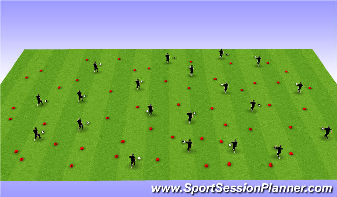 Football/Soccer Session Plan Drill (Colour): Indivdual Ball warm up - Activation activity