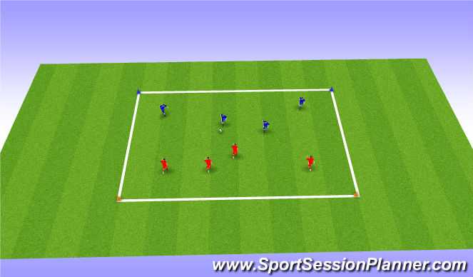Football/Soccer Session Plan Drill (Colour): Global 3v3 Line Ball