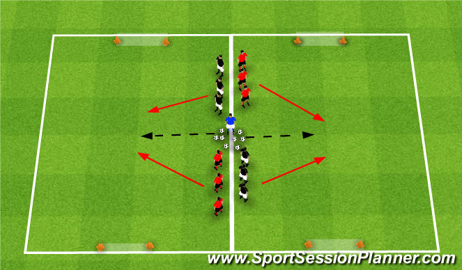 Football/Soccer Session Plan Drill (Colour): Numbers Team Game