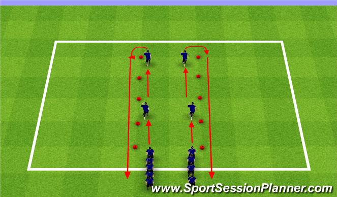 Football/Soccer Session Plan Drill (Colour): FIFA +11