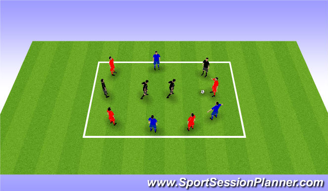 Football/Soccer Session Plan Drill (Colour): Transitional Rondo