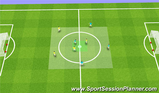 Football/Soccer Session Plan Drill (Colour): Transition to Possess