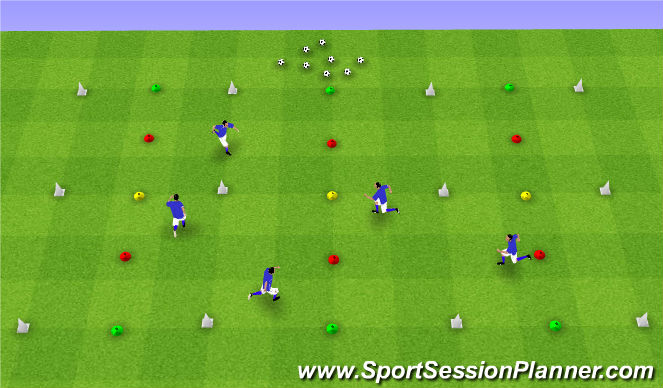 Football/Soccer Session Plan Drill (Colour): Recognizing Space