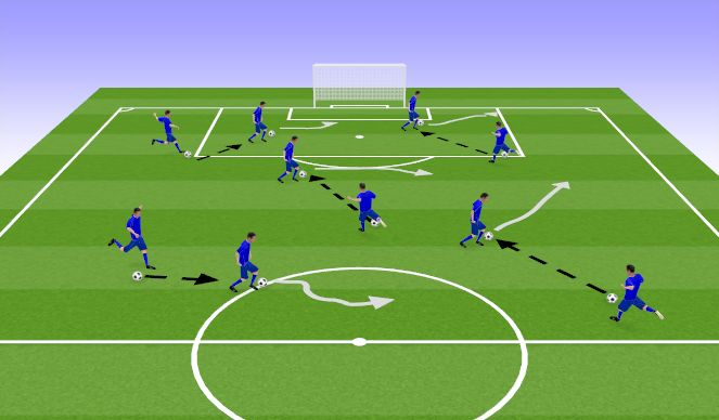 Football/Soccer Session Plan Drill (Colour): Activity 1 - Soccer Tag