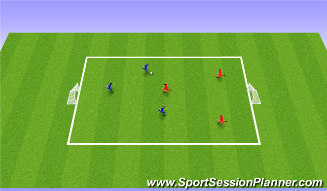 Football/Soccer Session Plan Drill (Colour): Global  3v3