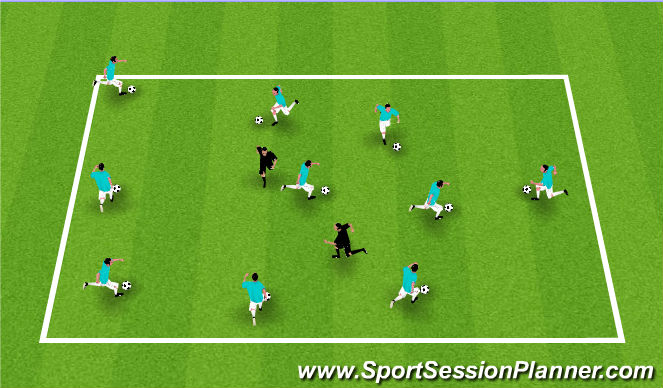 Football/Soccer Session Plan Drill (Colour): Smash and Grab