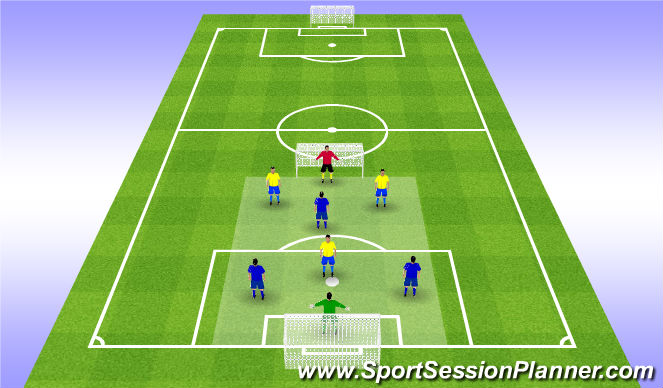 Football/Soccer Session Plan Drill (Colour): Conditioning SSG