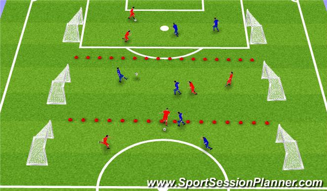 Football/Soccer Session Plan Drill (Colour): Tækni - og líkamsþjálfun2: