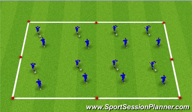 Football/Soccer Session Plan Drill (Colour): PAIRS