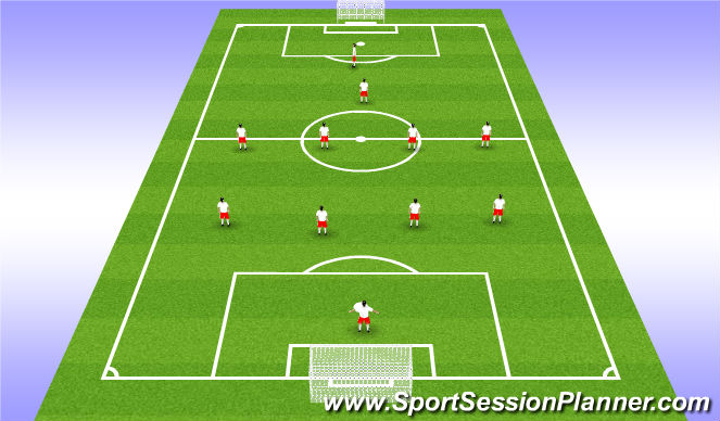 Football/Soccer Session Plan Drill (Colour): Team Shaping