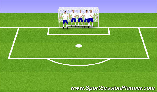 Football/Soccer Session Plan Drill (Colour): Header game