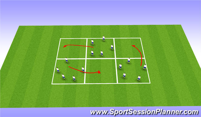 Football/Soccer Session Plan Drill (Colour): Rondo competition