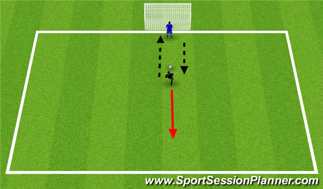 Football/Soccer Session Plan Drill (Colour): Simple pass