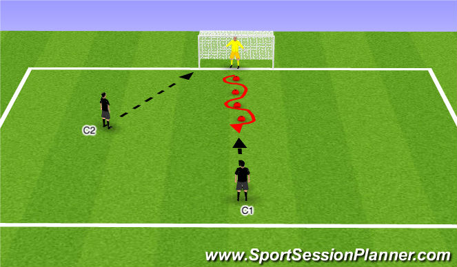 Football/Soccer Session Plan Drill (Colour): Scoop and movement