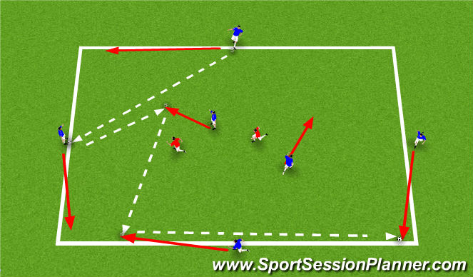Football/Soccer Session Plan Drill (Colour): 4141 - Rondo