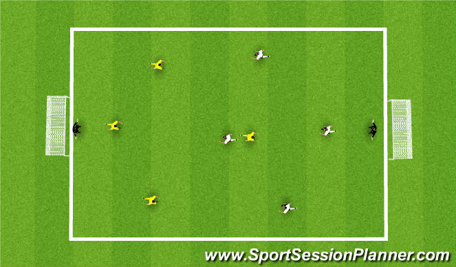 Football/Soccer Session Plan Drill (Colour): Arrival Scrimmage