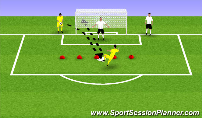 Football/Soccer Session Plan Drill (Colour): Fun Game: Volley Madness