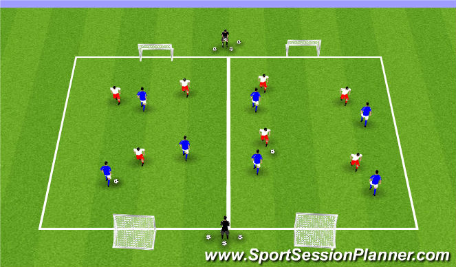 Football/Soccer Session Plan Drill (Colour): ODP Week 9 2nd Session Global