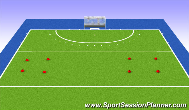Hockey Session Plan Drill (Colour): Kasteelhockey