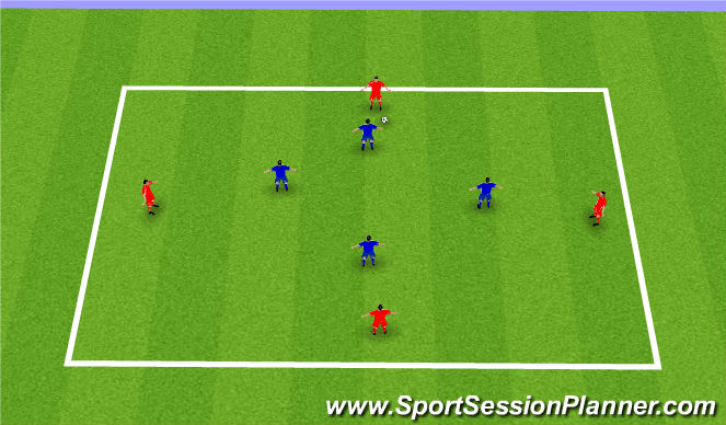 Football/Soccer Session Plan Drill (Colour): Stop the Diamond