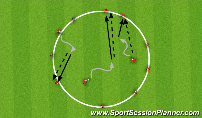 Football/Soccer Session Plan Drill (Colour): Training 3