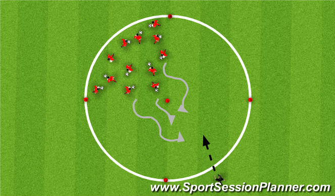 Football/Soccer Session Plan Drill (Colour): Training 2