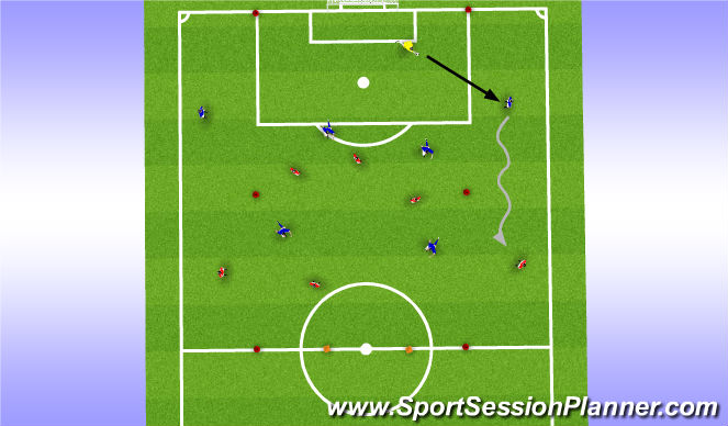 Football/Soccer Session Plan Drill (Colour): Training 4