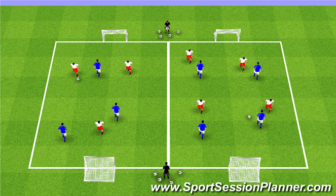 Football/Soccer Session Plan Drill (Colour): Week 10 ODP 2nd Session Global