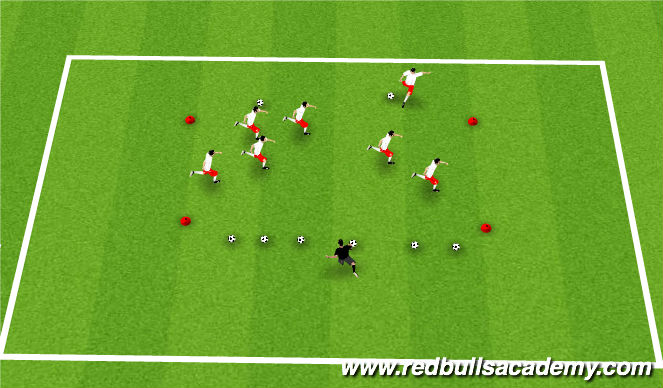 Football/Soccer Session Plan Drill (Colour): fun warm up 1