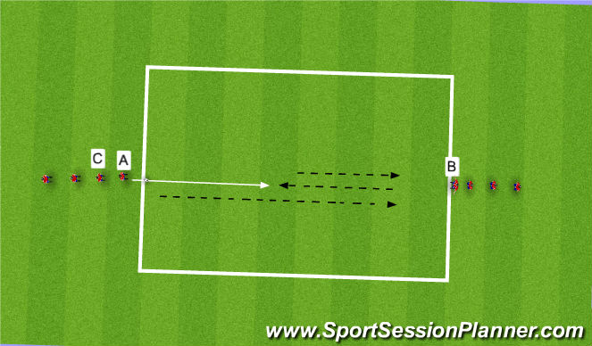 Football/Soccer Session Plan Drill (Colour): PSV Defender on the side