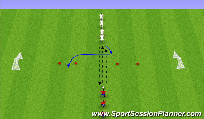 Football/Soccer Session Plan Drill (Colour): 1v1 Windows