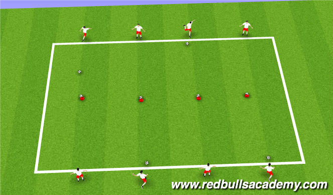 Football/Soccer Session Plan Drill (Colour): Fun technical