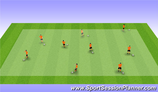 Football/Soccer Session Plan Drill (Colour): Warm Up General