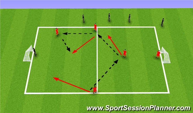 Football/Soccer Session Plan Drill (Colour): Patterns 2