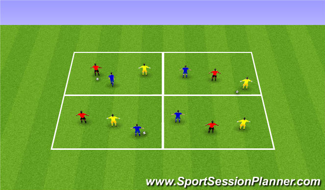 Football/Soccer Session Plan Drill (Colour): Technical Game