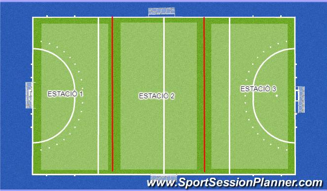 Hockey Ejercicio del Plan de Sesiones (Color): ESTRUCTURA