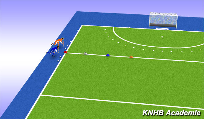 Hockey Session Plan Drill (Colour): Warming Up