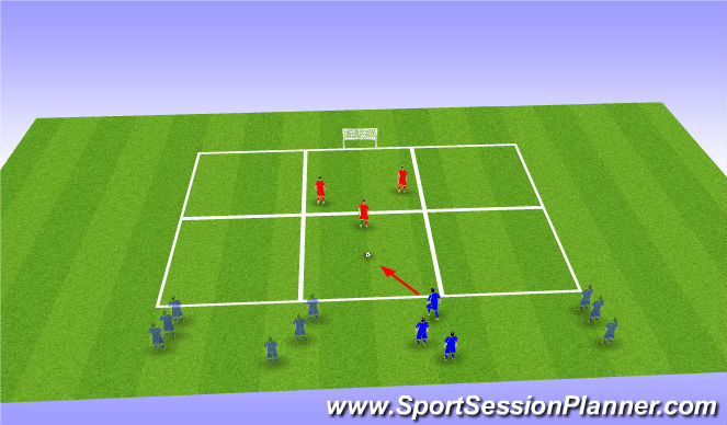Football/Soccer Session Plan Drill (Colour): 3 v 1
