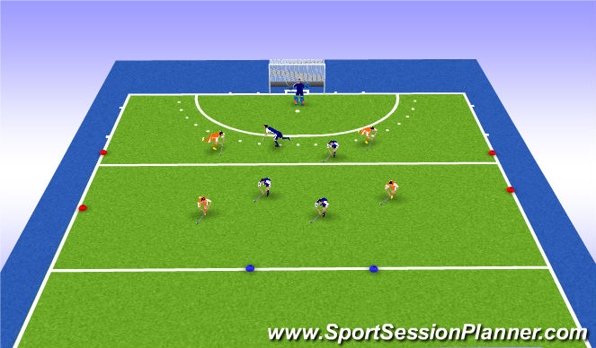 Hockey Session Plan Drill (Colour): Partit FINAL