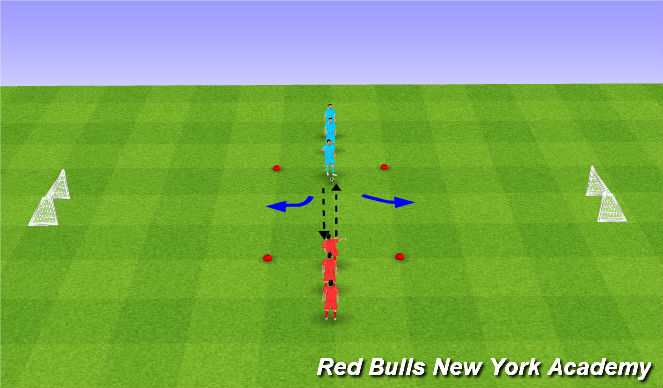 Football/Soccer Session Plan Drill (Colour): Main Theme - Opposed - First Touch